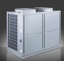 China 40.6 KW EVI low temperature air source heat pump for cooling and heating and hot water distributor