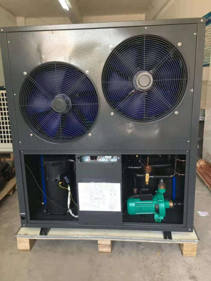 Horizontal fan 24 KW air source heat pump water heater; built-in water pump